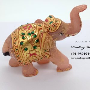 Energized Rosequartz Elephants (Size 2.5 to 3 inch approx , Weight 300 gm approx)